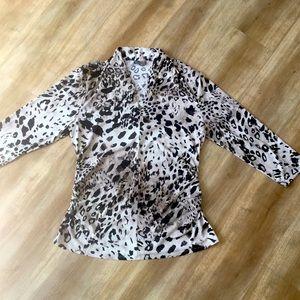 Vince Camuto leopard top XL